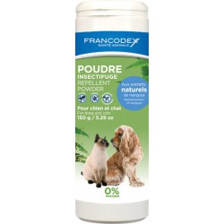 FRANCODEX Puder dla psów i kotów odstraszający insekty 150 g